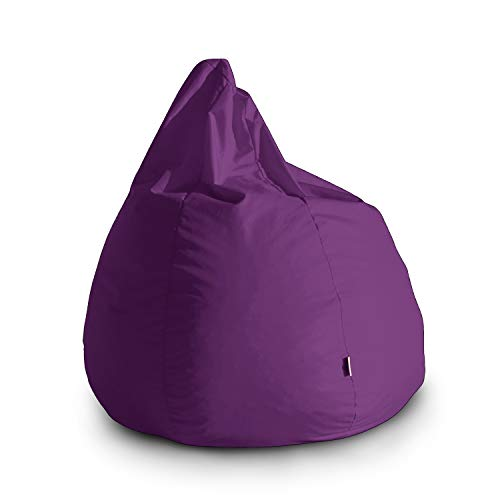 Avalon Pouf Poltrona Sacco Grande Bag L Jive 80x80x100cm Made in Italy in Tessuto antistrappo Imbottito Colore Viola