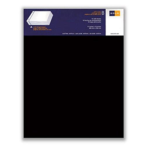 Kolo Newport Nachfüllblätter, 11 x 14 cm, Schwarz