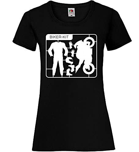 Shirt84.de - Camiseta de manga corta para mujer Negro S