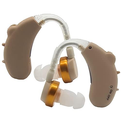 Amplificador De Sonido Anciano BTE Collector INALÁMBRICO Audiencia Auriculares Auxiliares Deterioro Audífonos Comunes para Orejas Izquierda Y Derecha,2 pcs