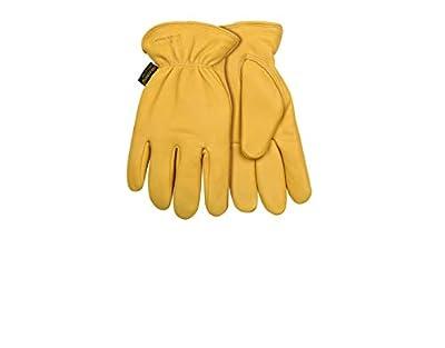 Kinco 90HK Lined Grain Deerskin Leather Ranch and Work Glove