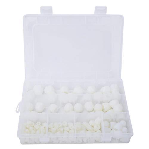 Tapa de perno hexagonal, 145 piezas Tapa de tuerca de perno hexagonal Cubierta de protección de tuerca de goma blanca para accesorios de kit de herramientas de mano de tornillo