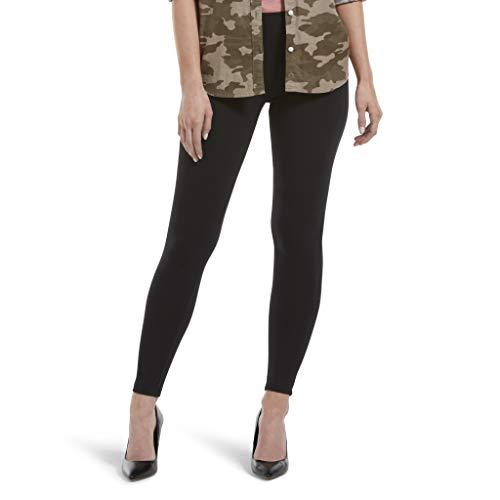 HUE womens Wide Waistband Blackout Cotton Leggings, Assorted Hosiery, Black, X-Large US