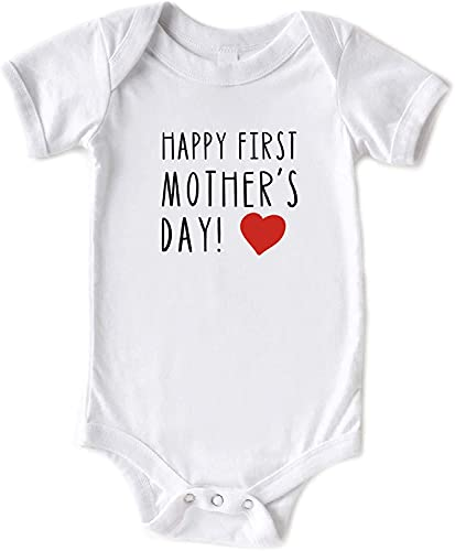Toll2452 Mameluco de bebé Happy 1st Mothers Day Baby Shirt First Mothers Day Baby Body