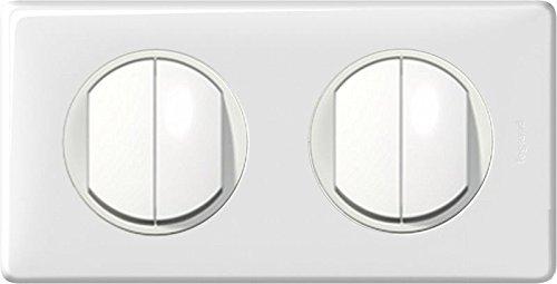 Quadruple bouton-poussoir 2orificios embellecedora completo