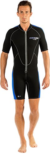 Men's Short Front Zip Wetsuit for Surfing, Snorkeling, Scuba Diving - LIDO SHORT by Cressi: quality since 1946