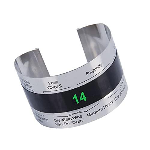 Sanfiyya Vino termómetro Externo Vino del Acero Inoxidable Pulsera con termómetro Digital con Pantalla para la fabricación de la Cerveza de la Botella