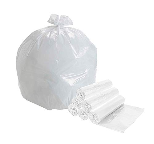 APQ Pack of 2000 Garbage Can Liners, Clear 20 x 22. High Density Natural Trash Liners 20x22. Thickness 0.24 Mil. 7 Gallon Garbage Bin Liners for Office, Bedroom and Kitchen Wastebasket Cans 6 Micron.