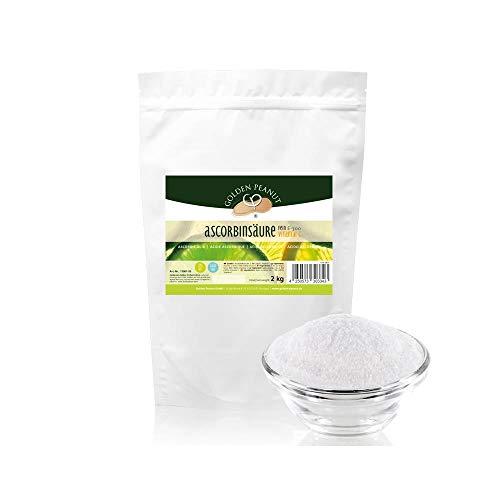 Vitamin C Ascorbinsäure Pulver, 2kg Beutel - 100 % rein, hochdosiert, ascorbic acid