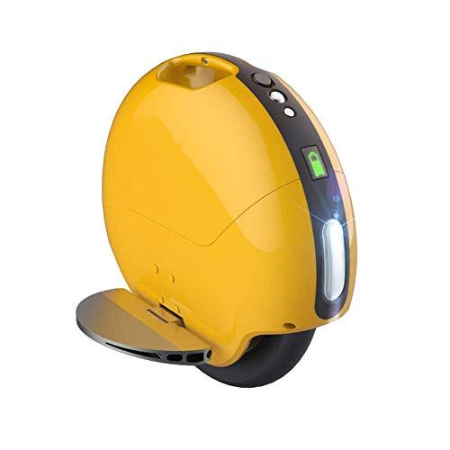 ZXY Equilibrio eléctrico Inteligente Monociclo Scooter somatosensorial Vehículo eléctrico de Equilibrio Inteligente vehículo Apariencia: 410 mm * 410 mm * 150 mm,Amarillo