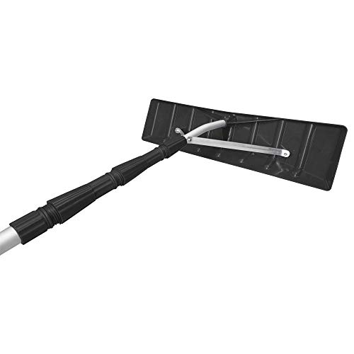 MTB Telescoping Snow Roof Rake, Black, with 21-ft Extension Aluminum Handle Rooftop Snow Removal Tool