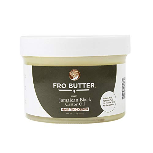 Fro Butter Jamaican Castor Oil Hair Thickener Treatment, Nourishing Extracts for Fast Hair Restoration, Shedding and Thinning Hair, Men and...