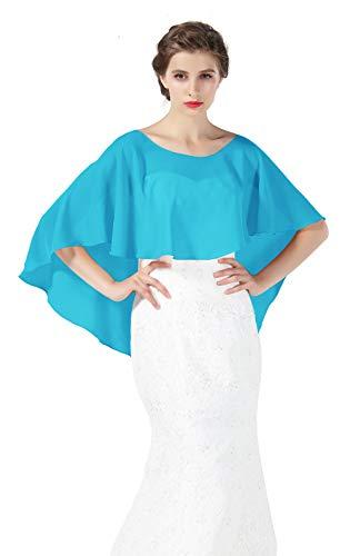 BEAUTELICATE Scialle Stola Chiffon Scialli Cape Mantello Donna Estivo Elegante Vintage per Cerimonia Sposa Festa 25 Colori