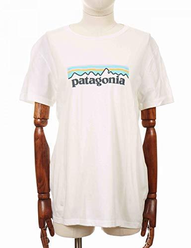 Patagonia W Pastel P-6 Logo Crew Organic T-Shirt Majlis Manica Corta Femme, Whi, FR : S (Taille Fabricant : S)