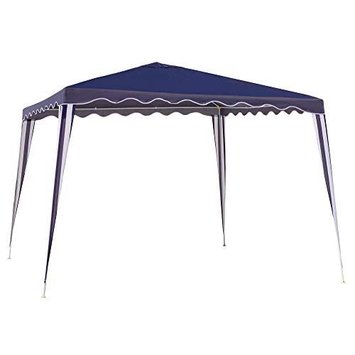 LOLAhome Carpa Cenador Gazebo Desmontable con ventilación Superior Azul de Acero de 300x300x250 cm