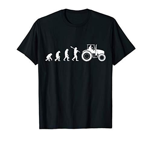 Landwirt Evolution Bauer Trecker Traktor lustiges Geschenk T-Shirt