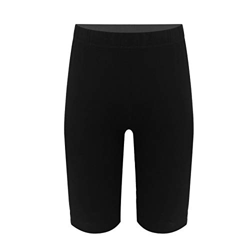 winying Mädchen Shorts Gymnastik Turn Tanzen Kurze Hosen Leggings Tights Knielang Sport Fitness Hot Pants Schwarz 11-12 Jahre