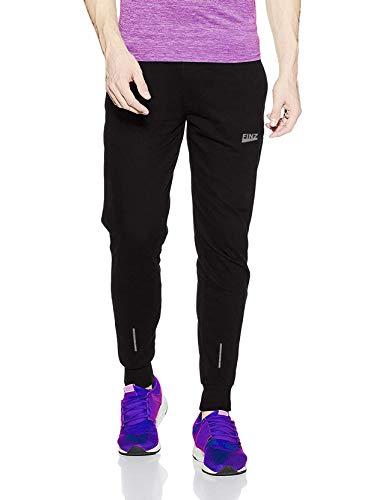 Finz Men's Black Polyester Lower Trackpants Jogger Gym Wear Night Wear Lounge Wear