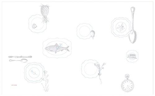 PIP Studio Pip Embroidery 51035022 Royal Tischdecke aus Baumwolle, 150 x 250 cm, Weiß