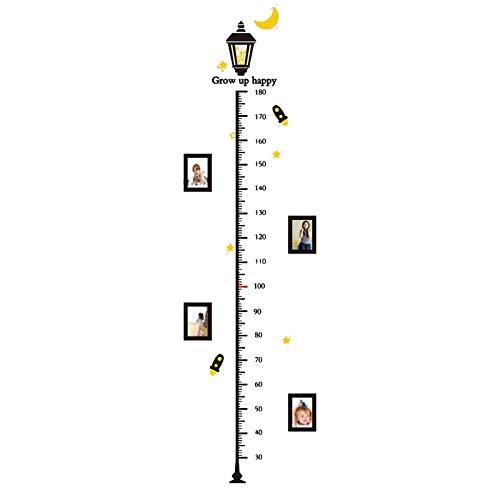 Gymqian Gráfico de Crecimiento Gráfico de Altura para Niños Bebé Gráfico de Crecimiento Etiqueta Engomada de la Pared Ruler de la Pared para Niños Niñas Dormitorio Camisero...