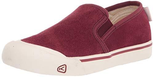 KEEN womens Coronado 3 Low Slip on Sneaker Hiking Shoe, Burgundy, 8 US