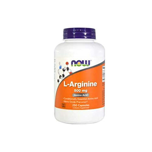 L-ARGININE NOW 500mg - 250 caps