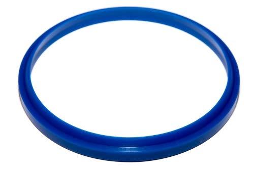 WRC Scheibenwischer- / Schaberdichtungen - PU - verschiedene Größen, 45mm x 55mm x 6/10mm, blau