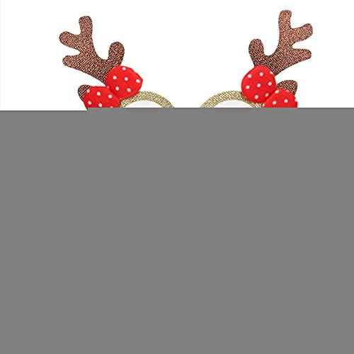 フェスティバルクリスマスツリーキッズメガネ、メガネフレーム、クリスマスクリスマスオーナメントコスプレ小道具装飾用(antlers)