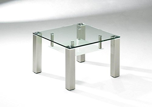 Vierhaus Couchtisch 4271-300/99 in Glas klar Größe: 65.0x65.0x45.0cm