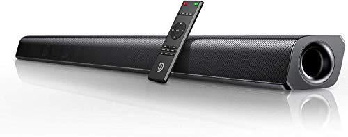 BOMAKER Barre de Son sans Fil 2.0 Canal HDMI Haut-Parleur 110 DB 37 Pouces pour TV Bluetooth 5.0 Son stéréo DSP...