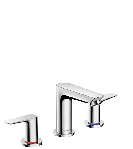 hansgrohe Talis E Modern Easy Install Easy Clean 2-Handle 3 5-inch Tall Bathroom Sink Faucet in Chrome, 71733001