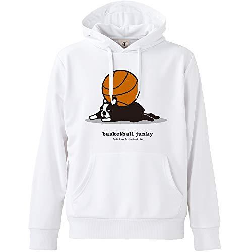 claudio pandiani(クラウディオ・パンディアーニ) Basketball Junky ぐでパンディアーニ+2 Dryスウェットプルパーカー BSK18543 ホワイト S
