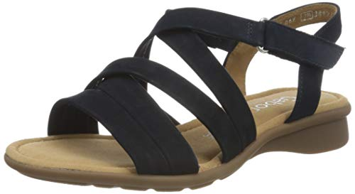 Gabor Shoes Damen Comfort Basic Riemchensandalen, Blau (Blue 36), 42.5 EU
