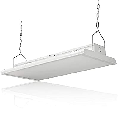 Konlite Linear LED Bay Ceiling Light 225w 4 FT 120-277V 30626 lumens 1-10V dimmable 5000k Color UL and DLC Listed Industrial LED Warehouse and Aisle Lighting Compares to 8 Lamp Fluorescent T5 Fixture