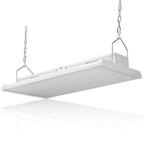 Konlite 2 FT Linear LED High Bay Ceiling Light 165W 22400 Lumens100-277V 5000K 0-10V Dimming, DLC and UL Listed Industrial Workshop Linear Hanging Light Great Aisle or Warehouse Lighting