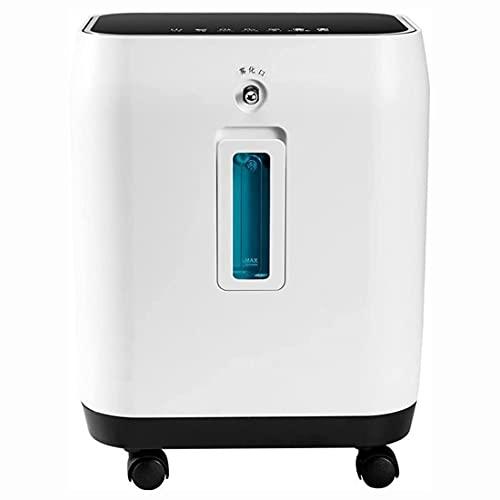 HUALUWANG Concentrador de oxígeno portátil para el hogar y los Viajes, máquina de oxígeno Inteligente de Gran Capacidad de 2 a 10 l/min, con Apagado programado, Control Remoto inalámbrico