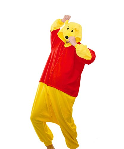 Funkey-munkey - Tuta intera unisex, pigiama o costume per cosplay, motivo: animale Winnie-the-Pooh L