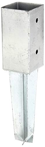 GAH-Alberts 211851 Bodenhülse | für Vierkantholzpfosten, zum Einschlagen | feuerverzinkt | 71 x 71 mm