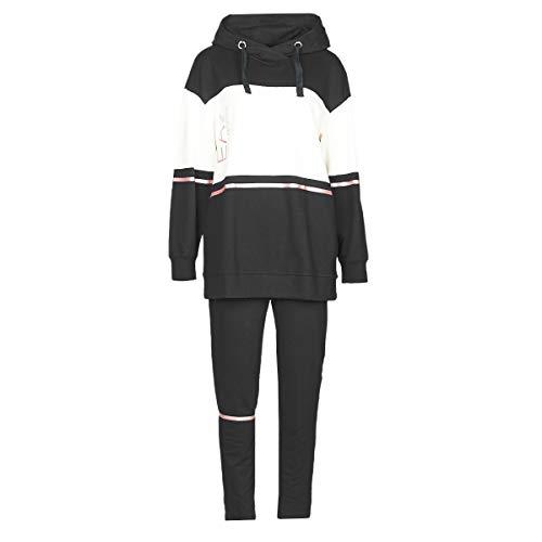 Emporio Armani EA7 Train Tracksuits W T-Suit Long Ho Cn Oh Slim Master Jogging & Sportbekleidung Damen Schwarz/Weiss - XS - Jogginganzüge Pants