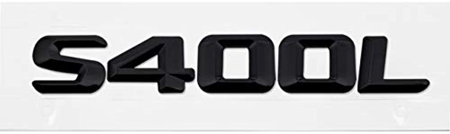 Auto Styling Number Car Sticker Metal Plastic Emblem Decal for Mercedes Benz S350 S400 S420 S430 S450 W203 W204 W211 W212  (color Name  Black S400L, Size  Metal)
