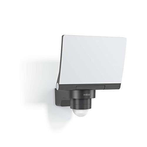 Steinel V2 Proiettore LED XLED PRO S, Antracite, 19,3 W, sensore di Movimento 240°, 3000 K, Luce Bianca Calda, con Supporto da Parete angolare