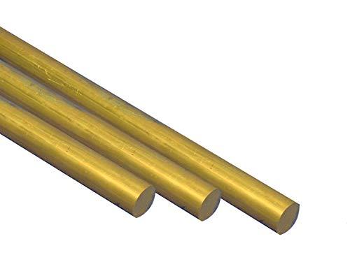 Messing Rundstab MS58 Ø 2 mm, rund, L: 1 m Rundstange