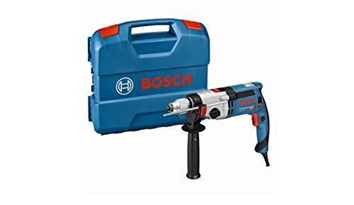 Bosch Professional GSB 24-2 - Taladro percutor (1100 W, 2 velocidades, 3000 rpm, Ø max perforación hormigón 22 mm, en...