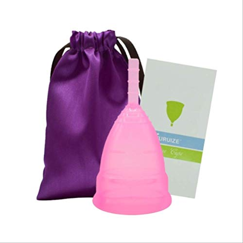 ZTBXQ Gesundheit Persönliche Intimpflege Menstruationstasse Damenhygiene Lady Cup für Frauen 100% Medizinischer Silikonperiodenbecher Wiederverwendbarer Silikon Menstruationsbecher für Frauen