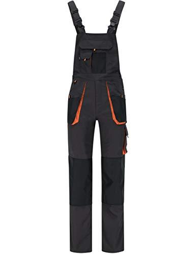 BWOLF Atlas Salopette de travail pour homme avec poches multifonctions Gris/orange - Gris - Large