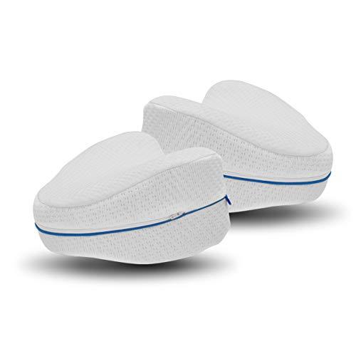 Dreamolino Leg Pillow 2 Stück – ergonomische Seitenschläferkissen für optimale Unterstützung – Memory Foam Kissen für Seitenschläfer für optimalen Liegekomfort