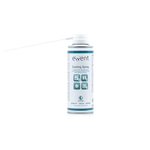 Ewent EW5616 - Pulverizador de refrigeración de Efecto instantáneo Spray 200ml, Color Blanco