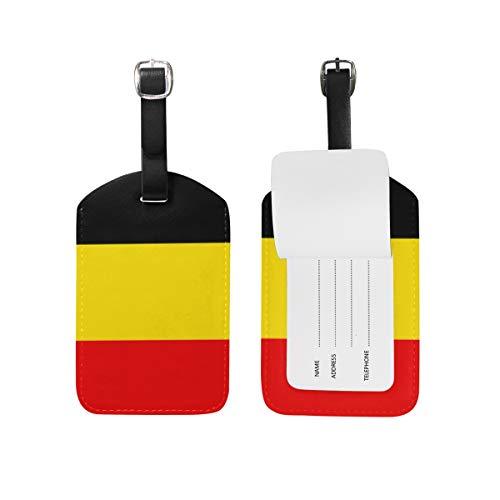 Etiquetas de Equipaje con la Bandera de Bélgica para Equipaje de Viaje