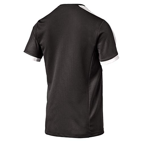 PUMA Men's Pitch Training Jersey, Black/White, Small/Size 44-46
