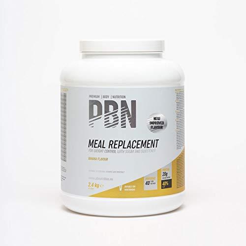 PBN Premium Body Nutrition Sustitutivo de comidas, bote de 2.4 kg, sabor plátano, sabor optimizado
